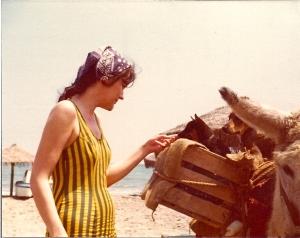 Mom, a third wheel on her friends' honeymoon in Spain.